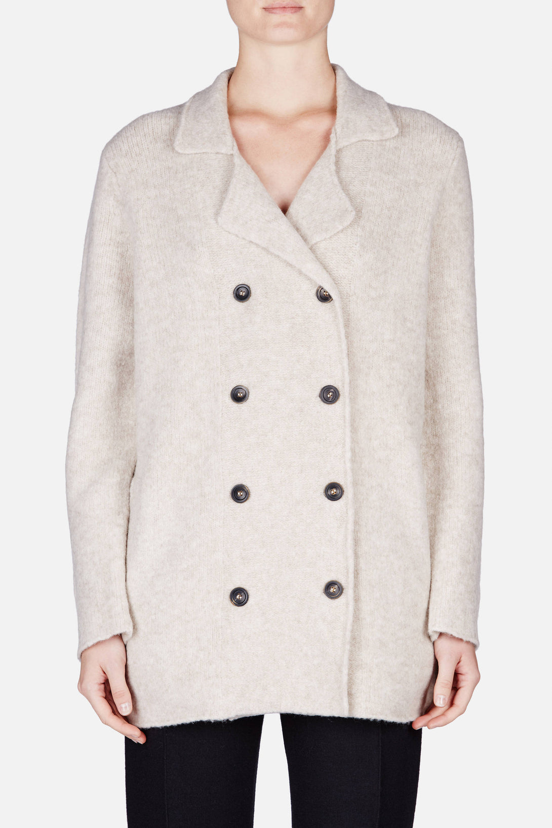Spencer Peacoat Cardigan - Almond