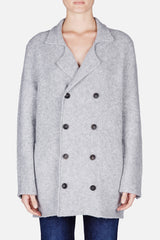 Spencer Peacoat Cardigan - Light Grey