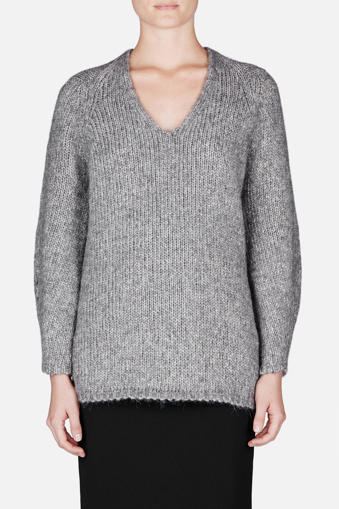 Walker Diamond Neck Pullover - Marble