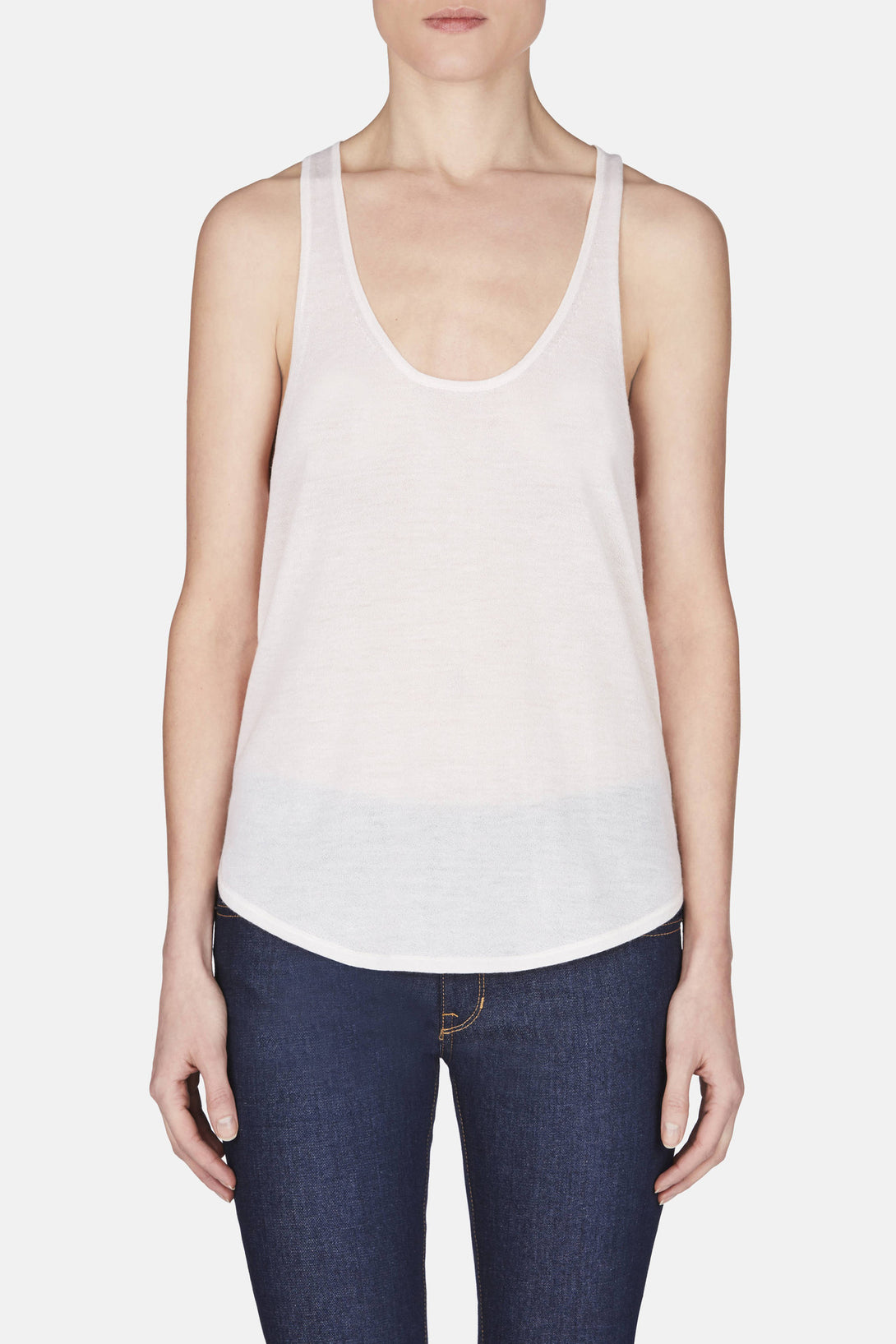 Cashmere Tank - Ivory