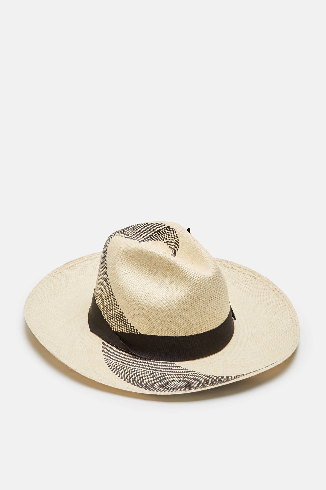 Caracol Long Brim Hat - Natural/Black