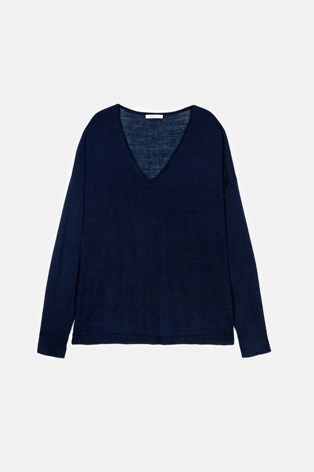 Slouchy V-Neck - Navy