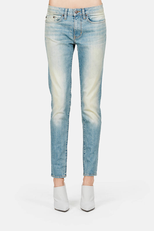 Loose Skinny Jeans - Classic Used Blue