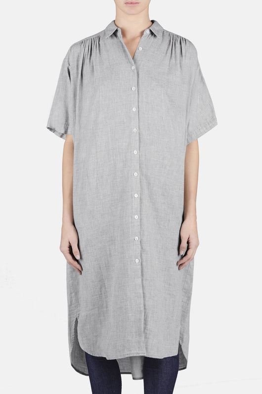 Oversized Shirtdress - Heather Grey