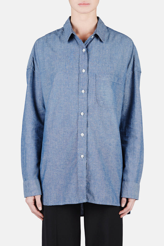 Chambray Lori Shirt - Washed Indigo