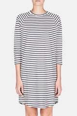 Stripe LS Dress - Navy Stripe