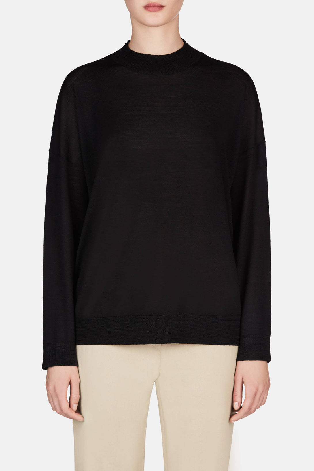 Mock Turtleneck - Black