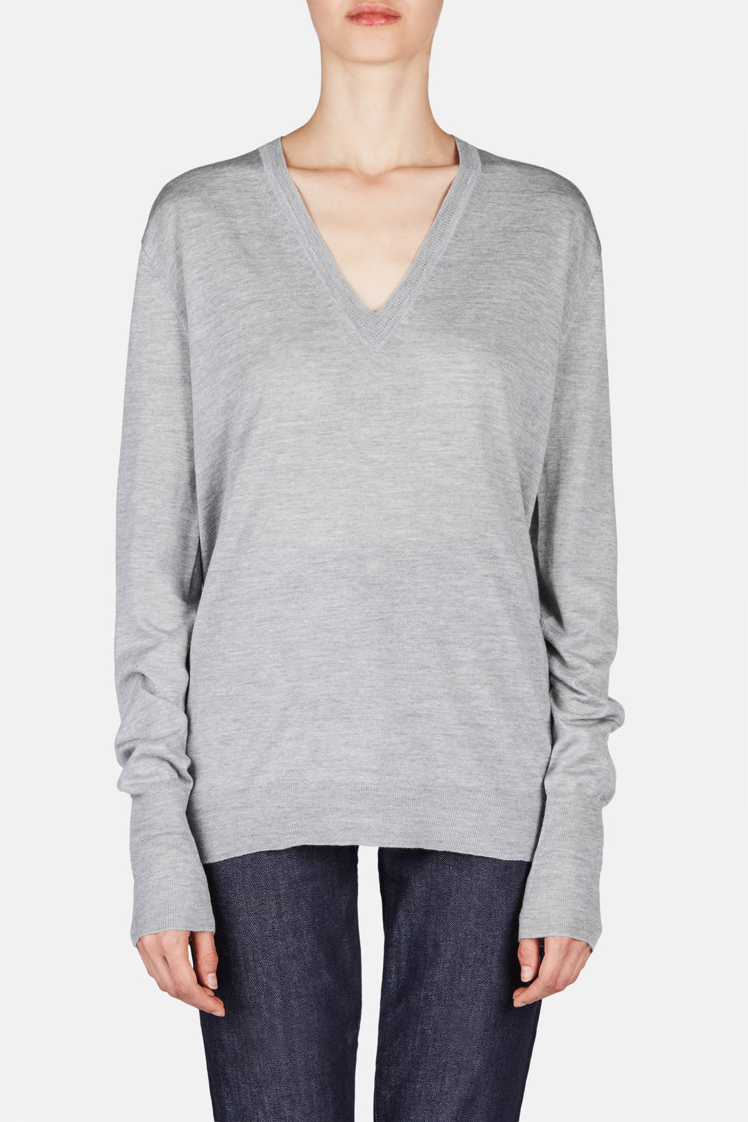 Perfect V-Neck - Heather Grey