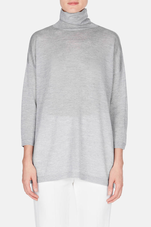 Swing Turtleneck - Heather Grey