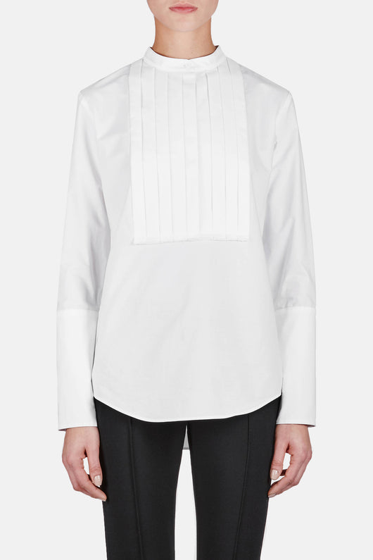 Shirt 13 Pleat Front Shirt - White