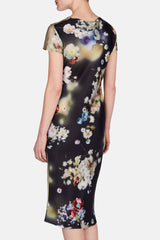 Silk Satin Dress - Blossom Print