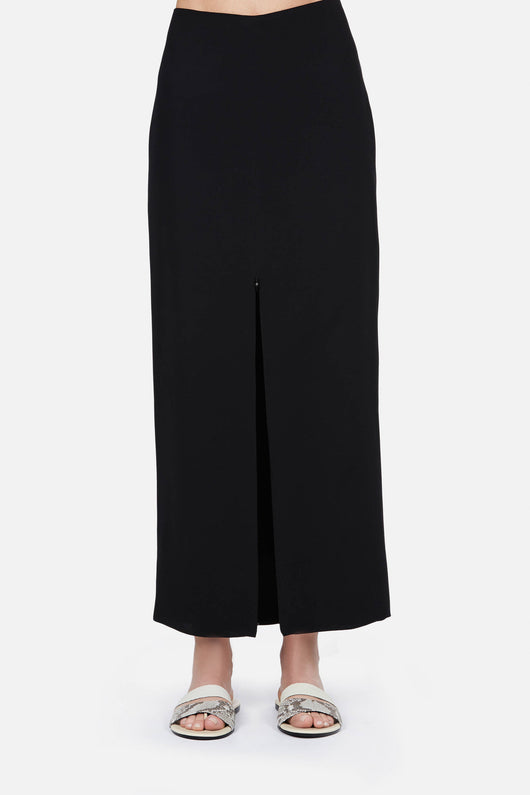 Skirt 05 Front Zip Skirt - Black
