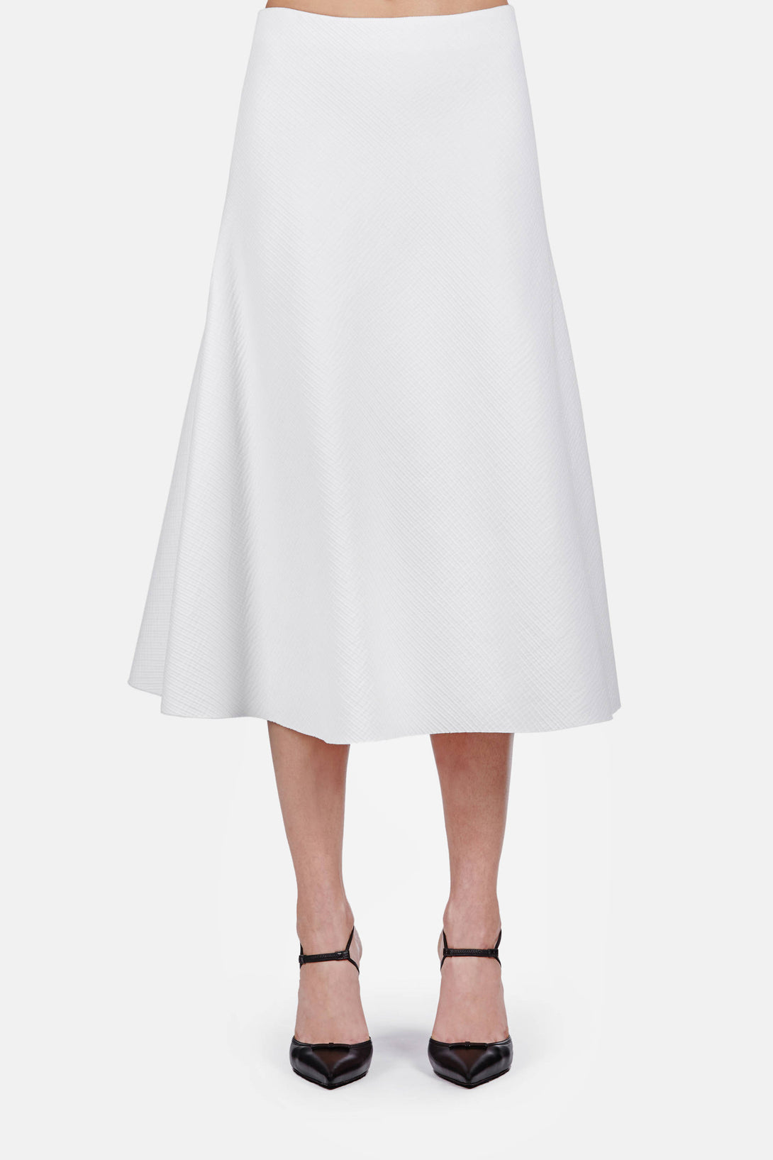 Skirt 08 Flare Skirt - Optic White