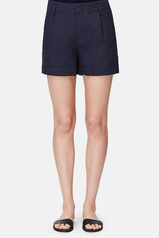 Slouchy Rolled Cuff Shorts - Coastal Blue