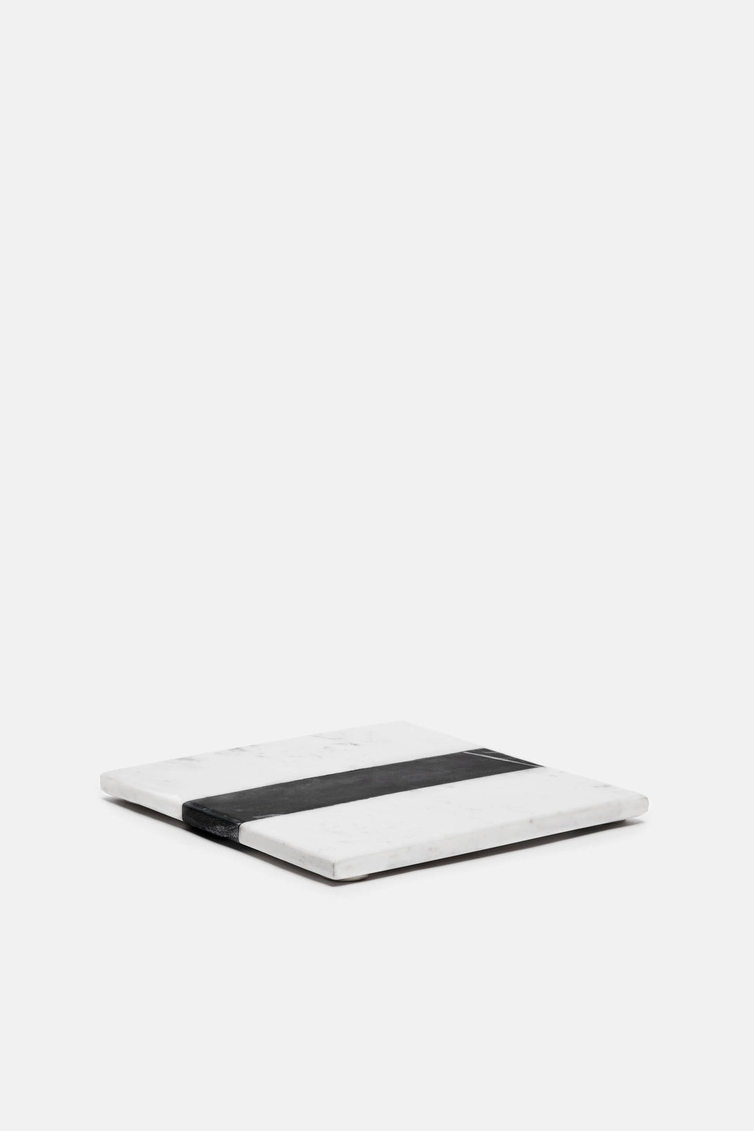 Small Marble Tray - White/Black