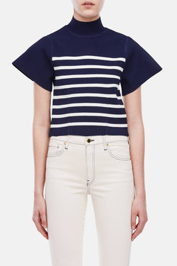 Stephanie Top - Navy/Ivory