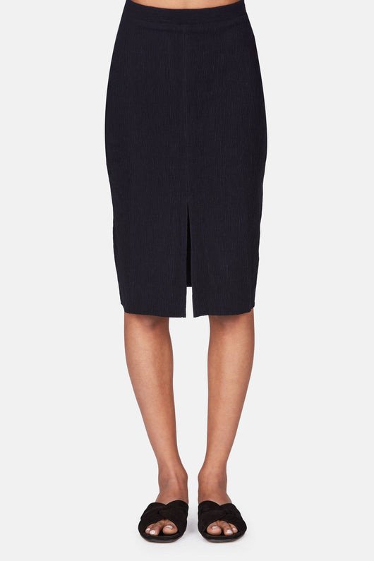 Straight Line Skirt - Navy