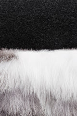 White Patched Fox Fur Pillow