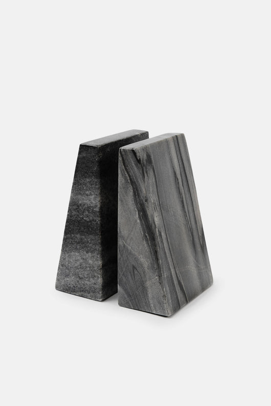 Marble Bookend Set - Grey
