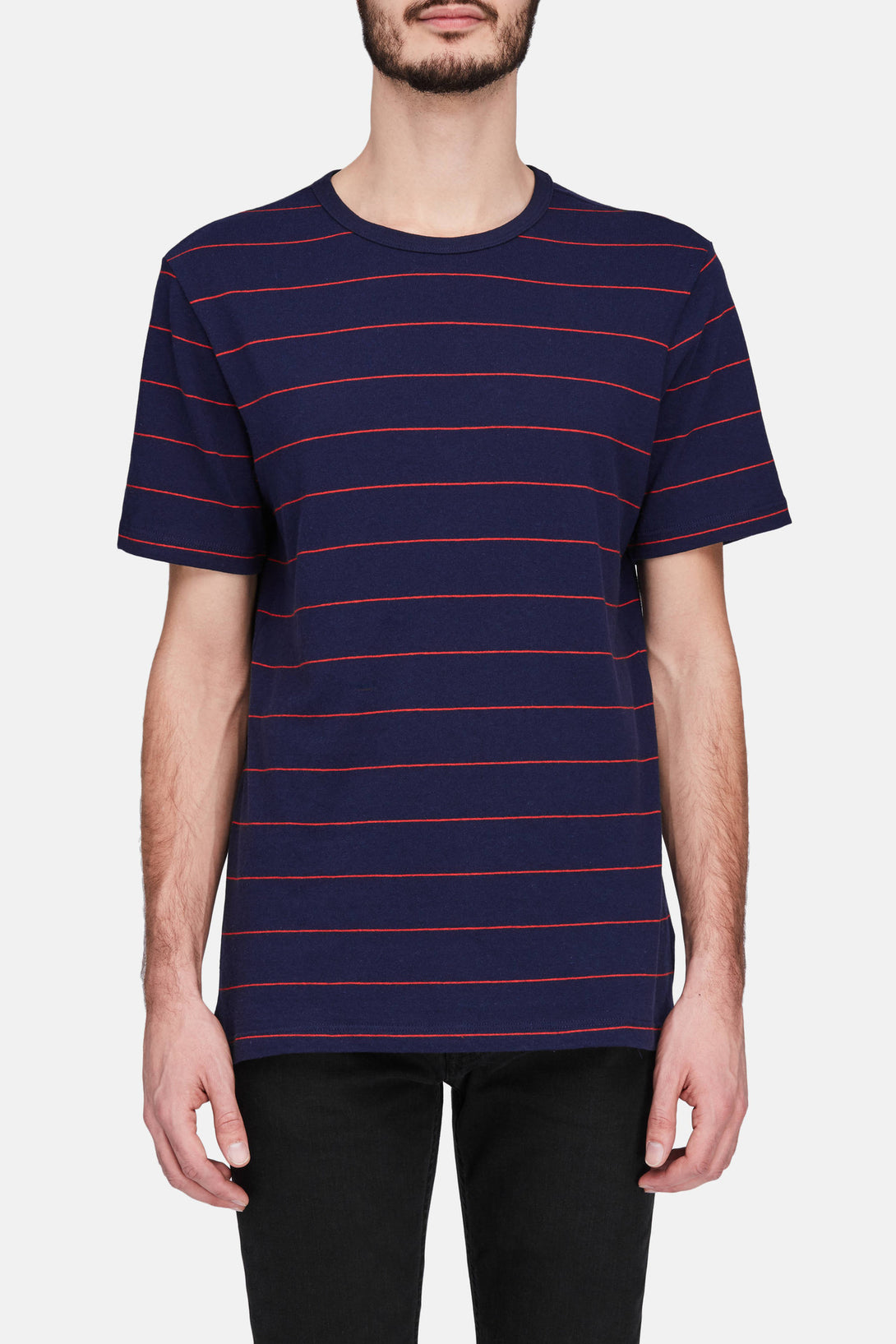 Short Sleeve Tee  - Red/Navy Stripe