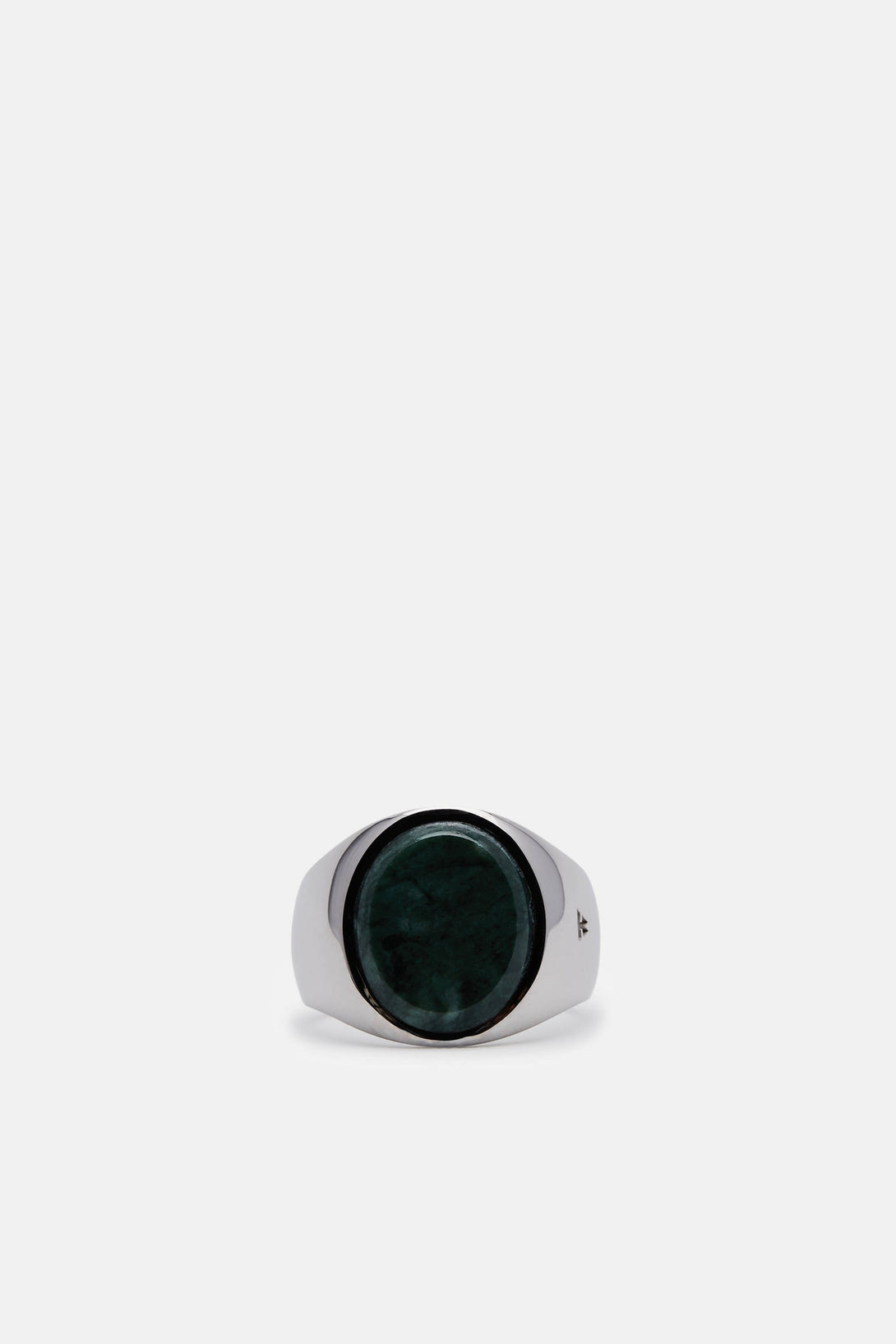 Oval Green Marble Ring