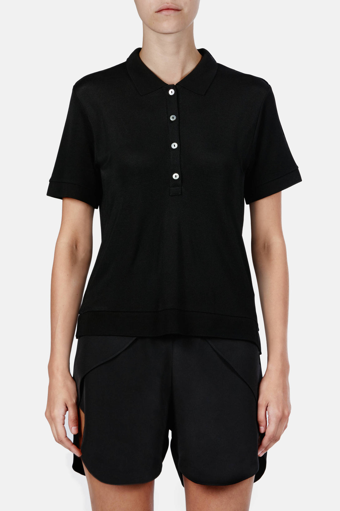 Kensington Pique Polo - Black