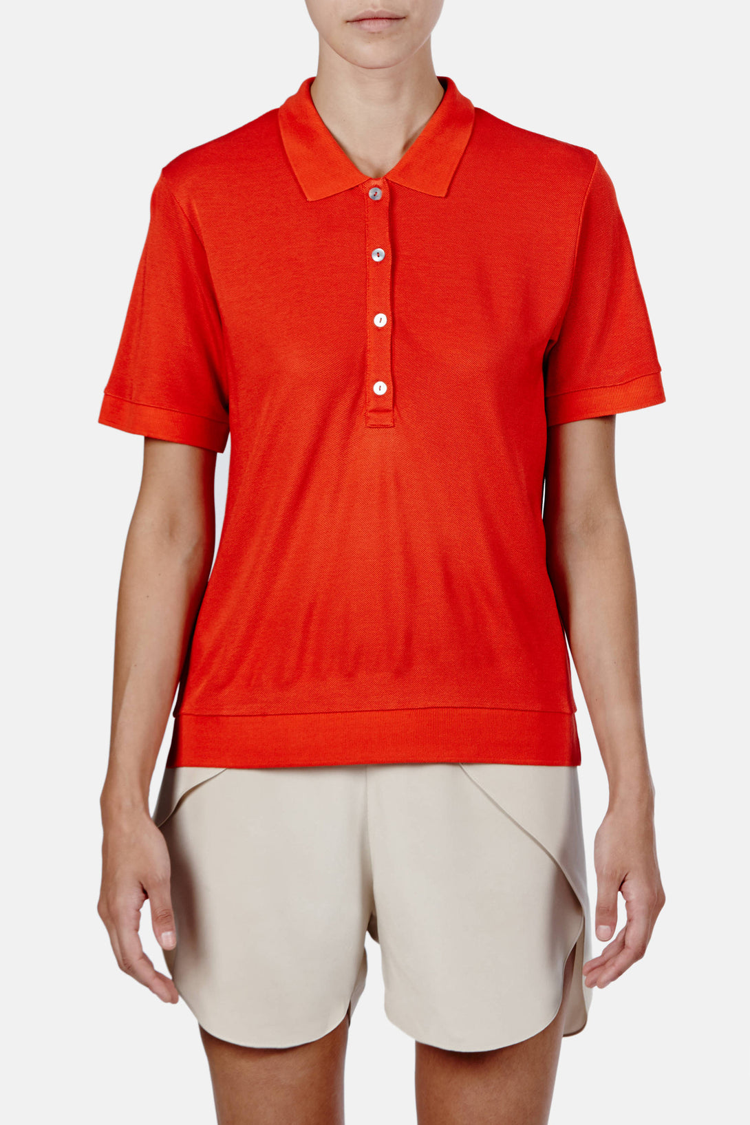 Kensington Pique Polo - Poinciana Orange