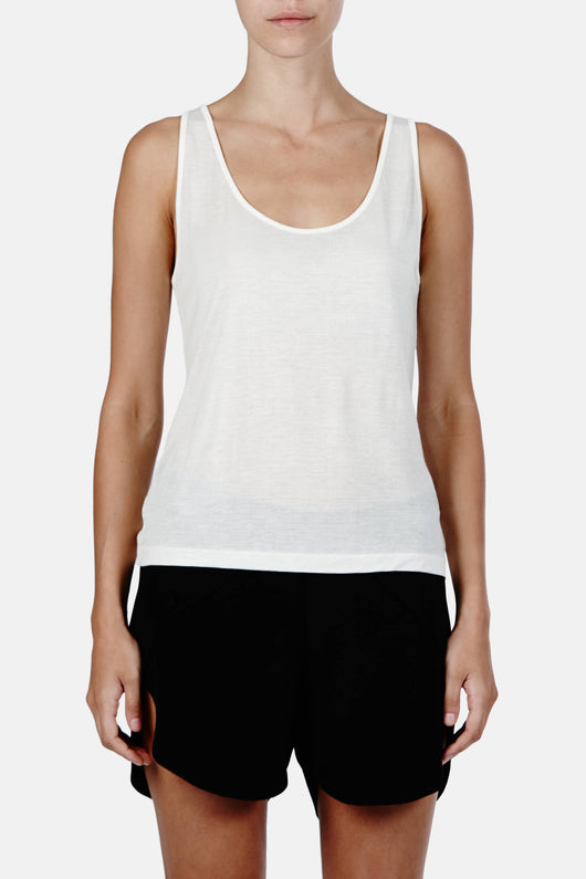 Siena Tank Top - Marshmallow White