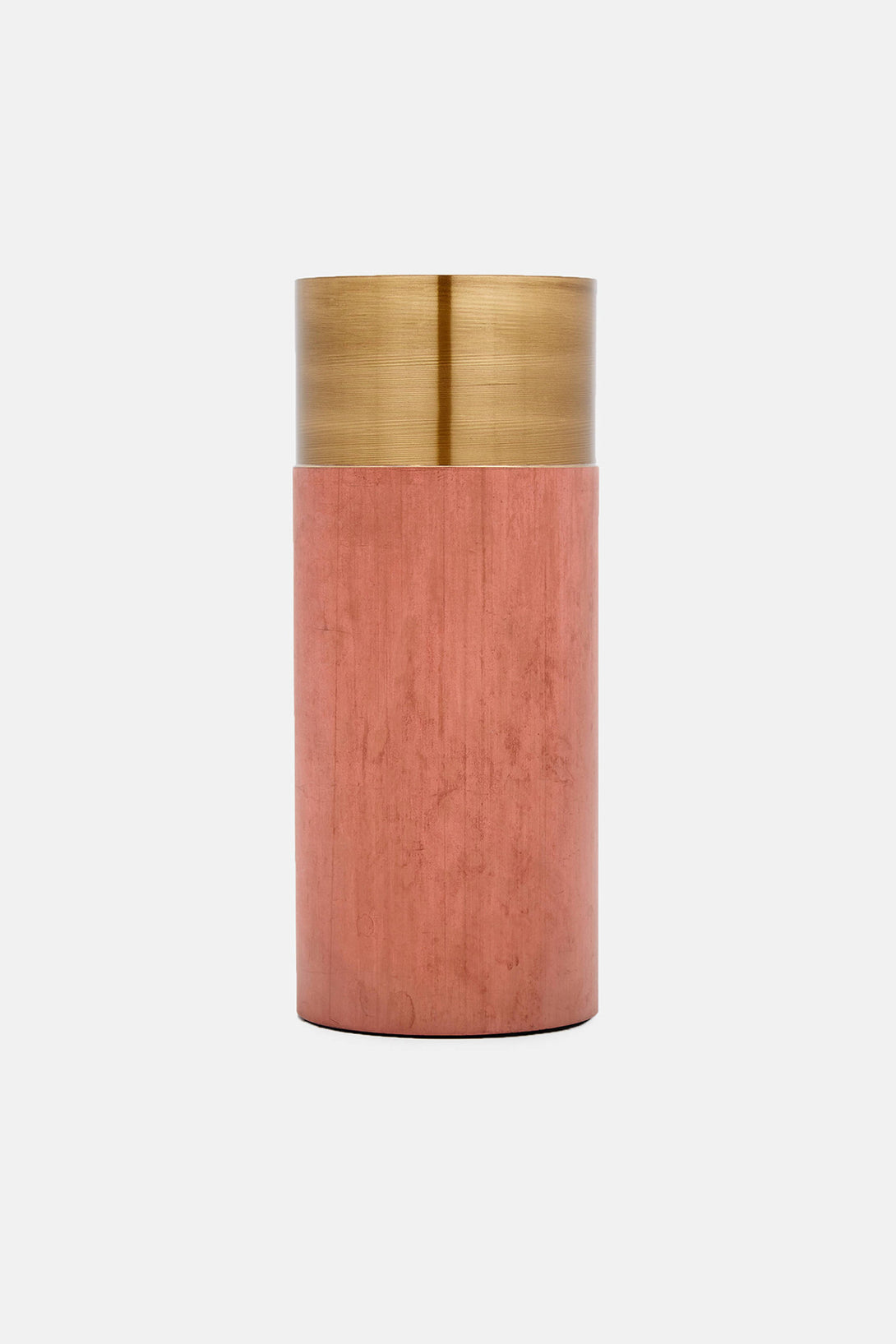 Terracotta Brass True Colour Vase by  Lex Pott