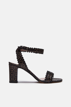 Leticia - Black Perforated