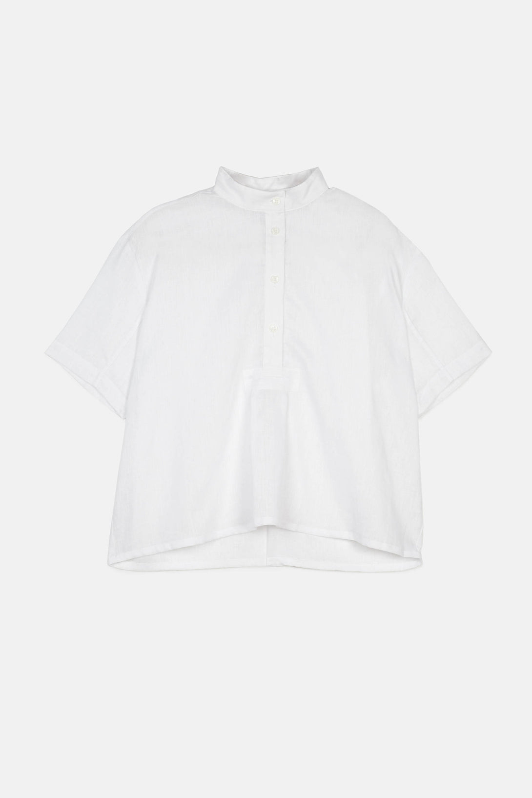 Short Sleeve Cropped Sleep Shirt - White