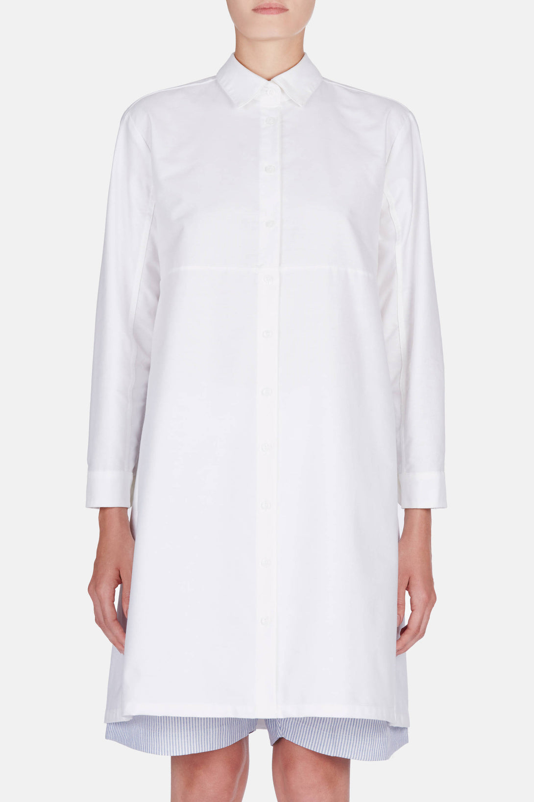 Button Down Sleep Shirt - White Oxford