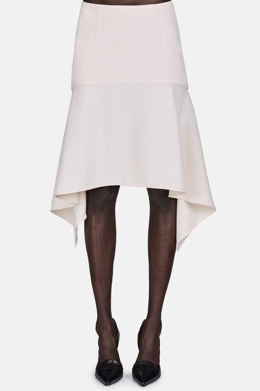 Front Draped Skirt - Sandstone