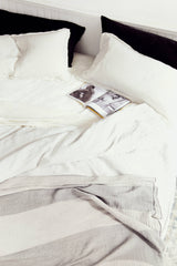 Striped Linen Sham - King
