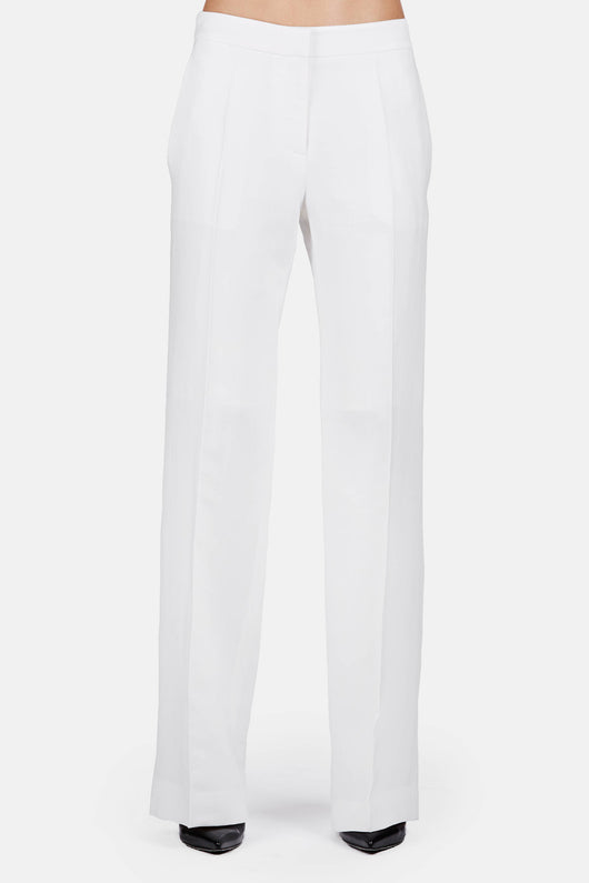 Trouser 07 Stovepipe Trouser - Almost White