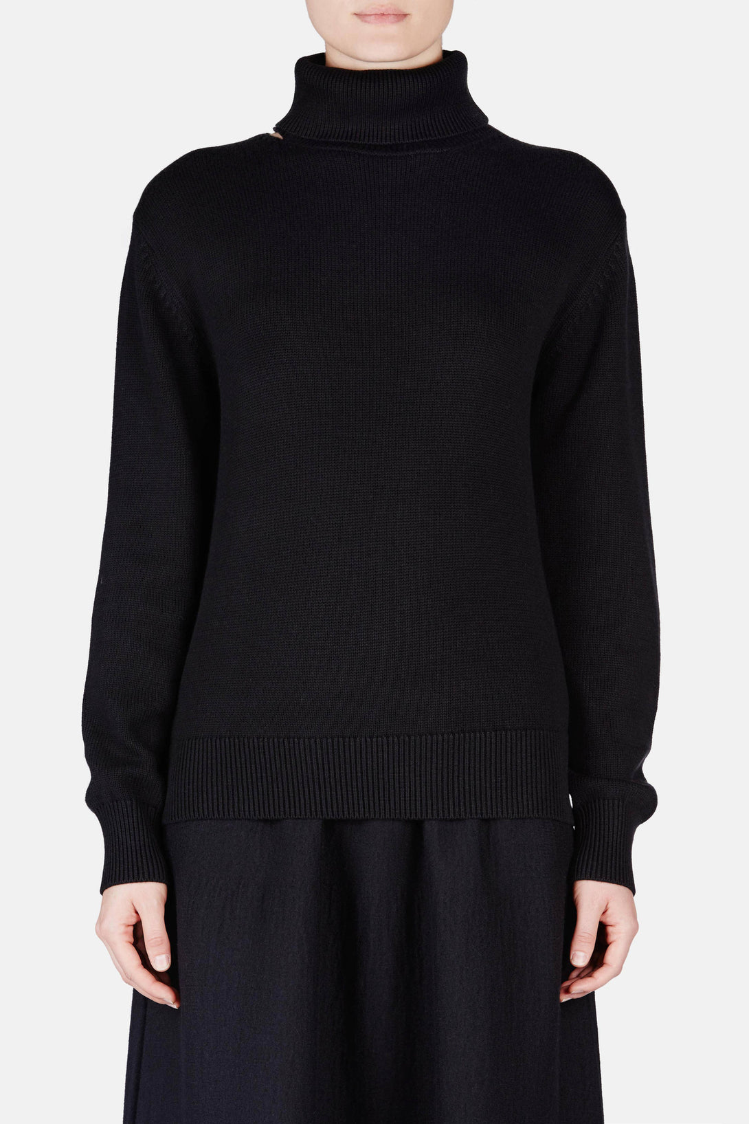 Back Slash Turtleneck - Black