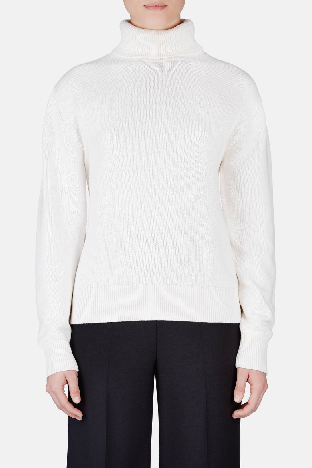 Back Slash Turtleneck - White