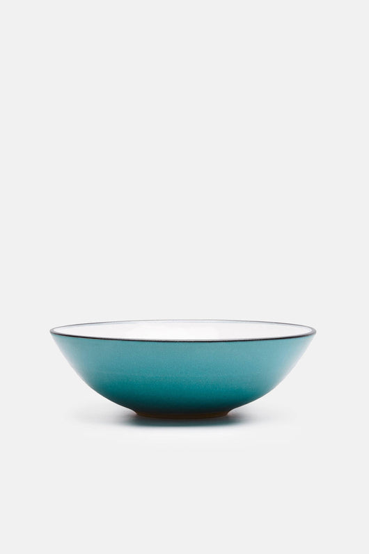 Turquoise with White Interior Bowl