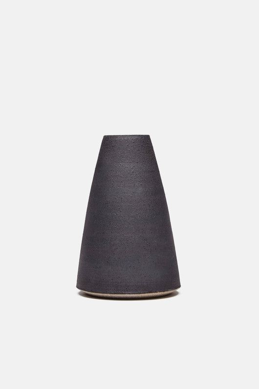 Matte Black Conical Vase
