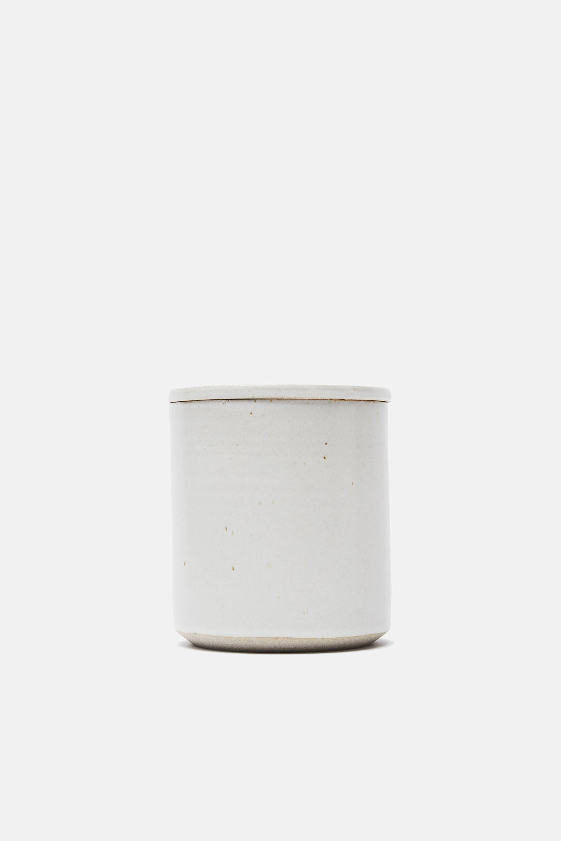 Matte White Lidded Kitchen Vessel - Small