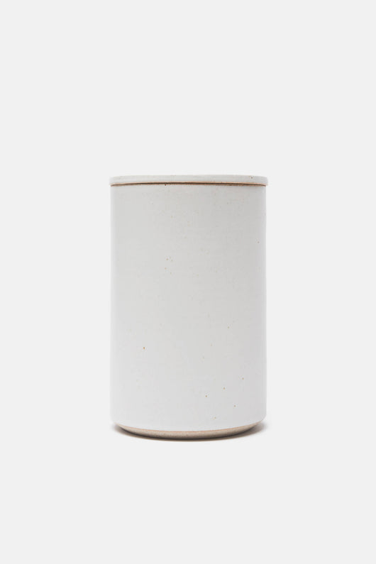 Matte White Lidded Kitchen Vessel - Large