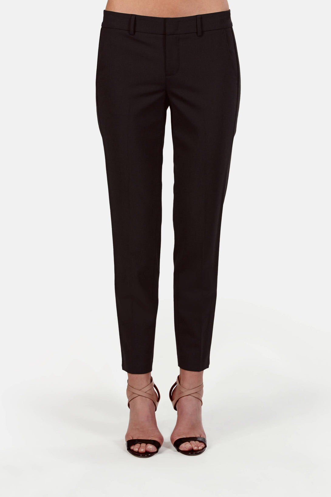 Tropical Wool Side Strapping Pant