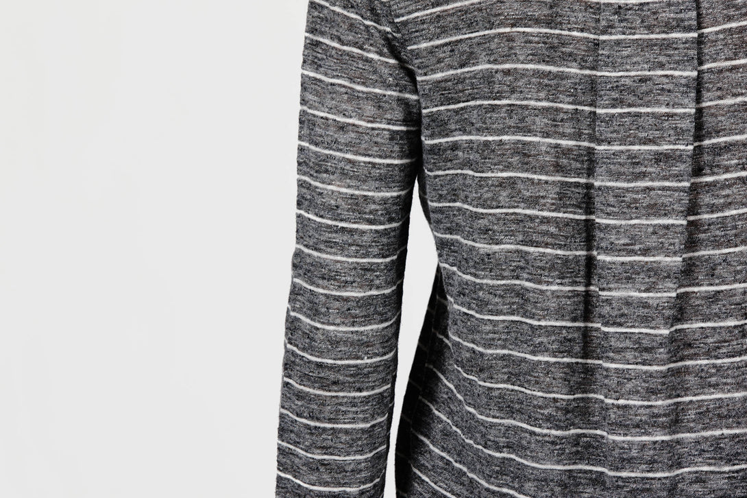 e04795bf66 ... Linen Striped Long-Sleeved Tee - Dark H Grey/White · Vince