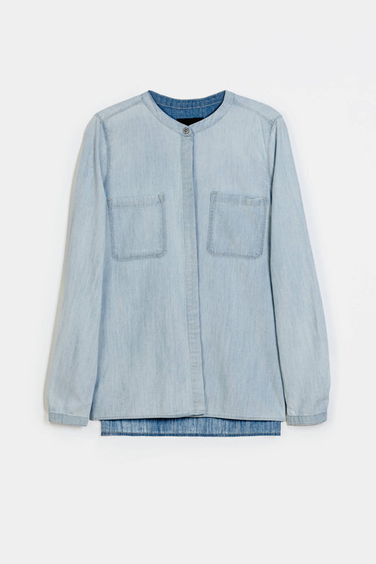 L/S Patch Pocket Shirt - Potassium Cloud