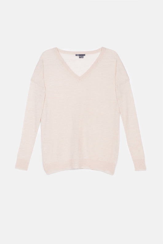 Lightweight V-Neck Sweater - Ballet