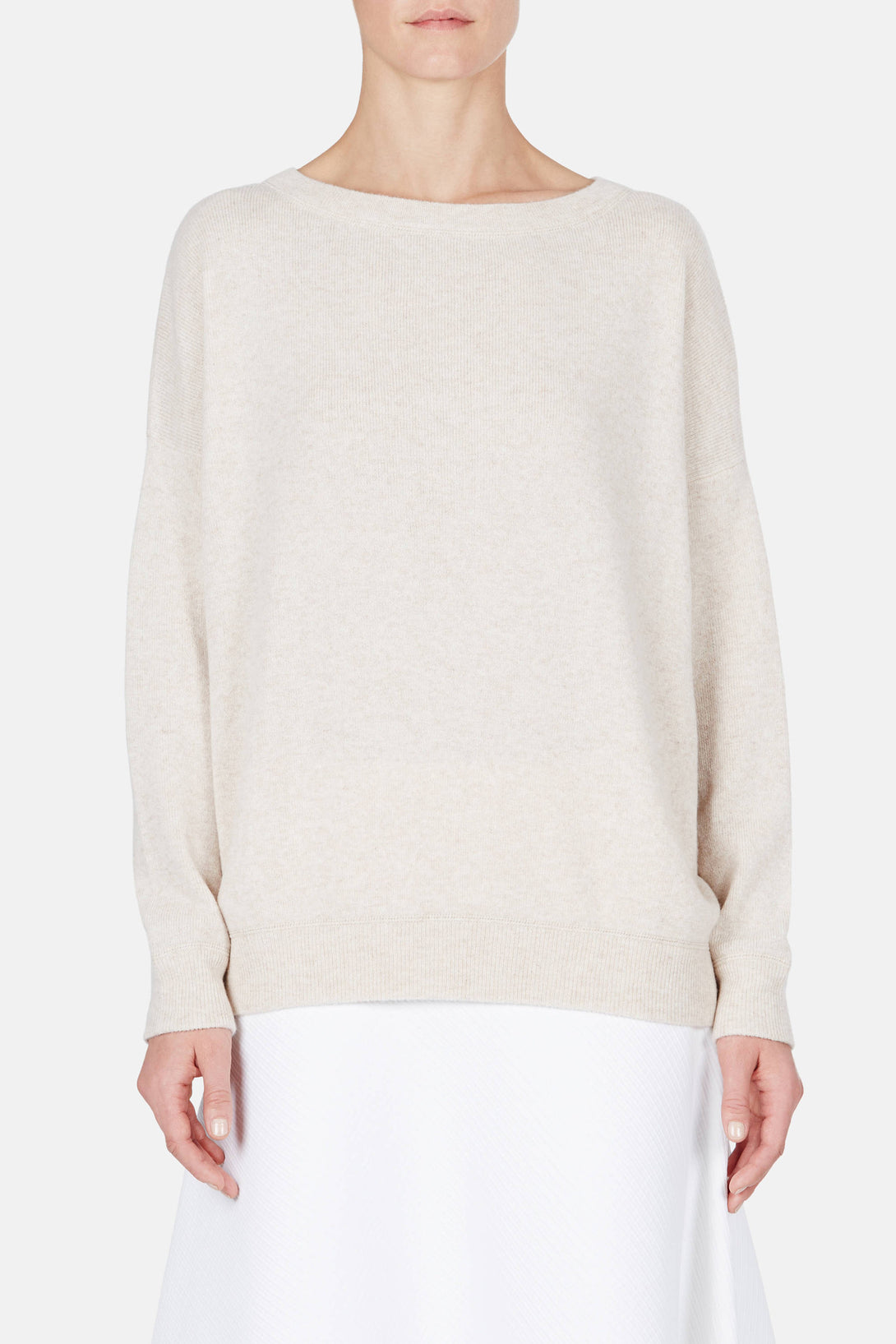 Solid Rib Sweater - Heather Khaki