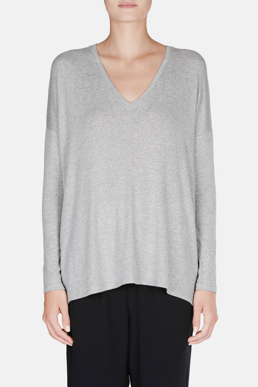L/S Luxe V-Neck - H Grey