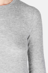 Long-Sleeved Crewneck - Heather Steel