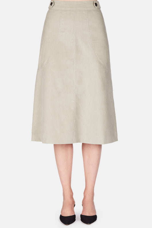 Charlie Skirt - Grey Green