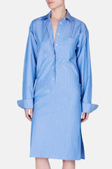 Shirt Dress - Blue Stripes